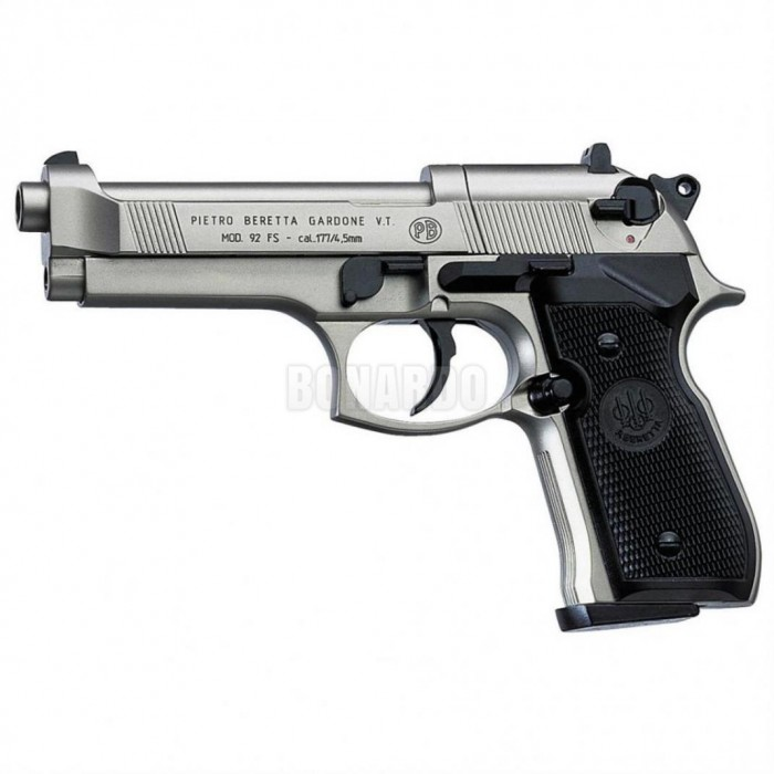 BERETTA CO2 PISTOLA 92FS CAL.4,5 92 NICKEL - Bonardo