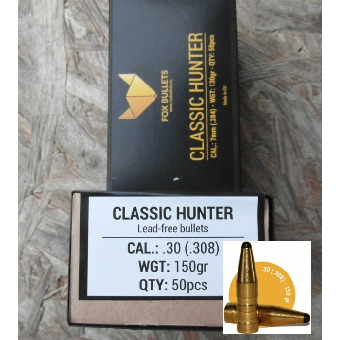 FOX BULLETS CLASSIC HUNTER CAL. 30  150GRS - Bonardo