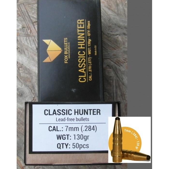 FOX BULLETS CLASSIC HUNTER CAL. 7mm 130GRS LEAD-FREE - Bonardo