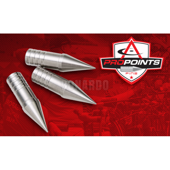COMPETITION ARCHERY PRO POINTS PIN PUNTA PER FRECCE IN ALLUMINIO - Bonardo