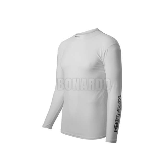 EASTON COMPRESSION LONG SHIRT LONG SLEEVE WHITE - Bonardo