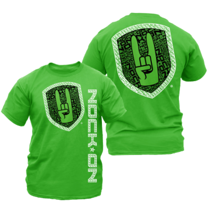 NOCK ON T-SHIRT VERTICAL 2.0 GREEN - Bonardo