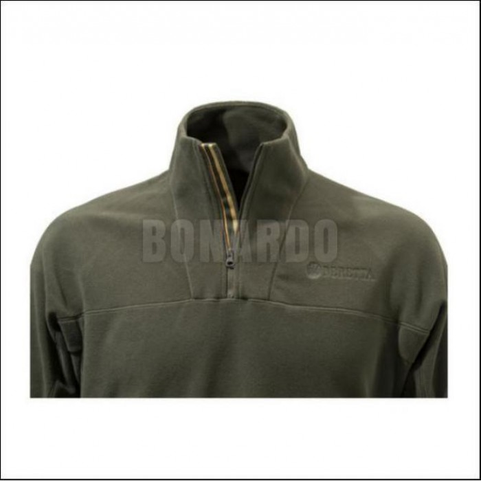 BERETTA PILE HALF ZIP FLEECE BROWN - Bonardo